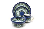 Ceramika Artystyczna Polish Pottery 4-pc. Place Setting with Standard Bowl - Wisteria S25-1473a (Ceramika Artystyczna)