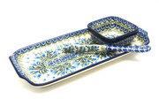 Ceramika Artystyczna Polish Pottery Appetizer Serving Set - Blue Bells S41-1432a (Ceramika Artystyczna)