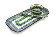 Ceramika Artystyczna Polish Pottery Appetizer Serving Set - Ivy Trail S41-1898a (Ceramika Artystyczna)
