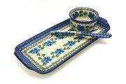 Ceramika Artystyczna Polish Pottery Appetizer Serving Set - Morning Glory S41-1915a (Ceramika Artystyczna)