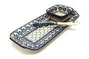 Ceramika Artystyczna Polish Pottery Appetizer Serving Set - Primrose S41-854a (Ceramika Artystyczna)