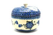 Ceramika Artystyczna Polish Pottery Apple Baker - Blue Poppy 034-163a (Ceramika Artystyczna)