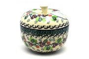 Ceramika Artystyczna Polish Pottery Apple Baker - Burgundy Berry Green 034-1415a (Ceramika Artystyczna)