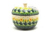 Ceramika Artystyczna Polish Pottery Apple Baker - Daffodil 034-2122q (Ceramika Artystyczna)
