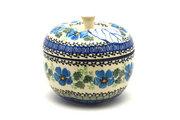 Ceramika Artystyczna Polish Pottery Apple Baker - Morning Glory 034-1915a (Ceramika Artystyczna)