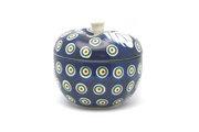 Ceramika Artystyczna Polish Pottery Apple Baker - Peacock 034-054a (Ceramika Artystyczna)