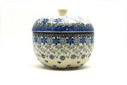 Ceramika Artystyczna Polish Pottery Apple Baker - Silver Lace 034-2158a (Ceramika Artystyczna)