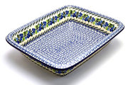 Ceramika Artystyczna Polish Pottery Baker - Lasagna - Blue Berries 854-1416a (Ceramika Artystyczna)