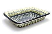 Ceramika Artystyczna Polish Pottery Baker - Lasagna - Blue Spring Daisy 854-614a (Ceramika Artystyczna)
