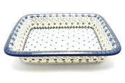 Ceramika Artystyczna Polish Pottery Baker - Lasagna - Silver Lace 854-2158a (Ceramika Artystyczna)
