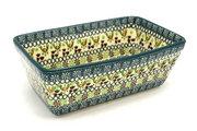 Ceramika Artystyczna Polish Pottery Baker - Loaf Dish - Mint Chip 603-2195q (Ceramika Artystyczna)