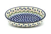 Ceramika Artystyczna Polish Pottery Baker - Oval - Medium - Bleeding Heart 298-377o (Ceramika Artystyczna)