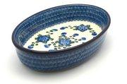 Ceramika Artystyczna Polish Pottery Baker - Oval - Medium - Blue Poppy 298-163a (Ceramika Artystyczna)