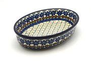 Ceramika Artystyczna Polish Pottery Baker - Oval - Medium - Primrose 298-854a (Ceramika Artystyczna)