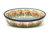 Ceramika Artystyczna Polish Pottery Baker - Oval - Small - Crimson Bells 299-1437a (Ceramika Artystyczna)