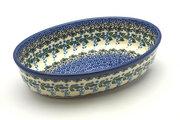 Ceramika Artystyczna Polish Pottery Baker - Oval - Small - Wisteria 299-1473a (Ceramika Artystyczna)
