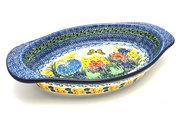 Ceramika Artystyczna Polish Pottery Baker - Oval with Handles - Unikat Signature - U4592 719-U4592 (Ceramika Artystyczna)