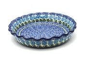 Ceramika Artystyczna Polish Pottery Baker - Pie Dish - Fluted - Antique Rose 636-1390a (Ceramika Artystyczna)