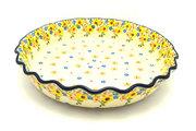 Ceramika Artystyczna Polish Pottery Baker - Pie Dish - Fluted - Buttercup 636-2225a (Ceramika Artystyczna)