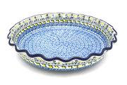 Ceramika Artystyczna Polish Pottery Baker - Pie Dish - Fluted - Daisy Maize 636-2178a (Ceramika Artystyczna)