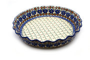 Ceramika Artystyczna Polish Pottery Baker - Pie Dish - Fluted - Primrose 636-854a (Ceramika Artystyczna)