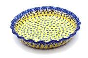 Ceramika Artystyczna Polish Pottery Baker - Pie Dish - Fluted - Sunburst 636-859a (Ceramika Artystyczna)