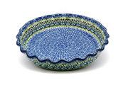 Ceramika Artystyczna Polish Pottery Baker - Pie Dish - Fluted - Tranquility 636-1858a (Ceramika Artystyczna)