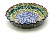 Ceramika Artystyczna Polish Pottery Baker - Pie Dish - Fluted - Unikat Signature U151 636-U0151 (Ceramika Artystyczna)