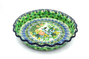 Ceramika Artystyczna Polish Pottery Baker - Pie Dish - Fluted - Unikat Signature U3271 636-U3271 (Ceramika Artystyczna)