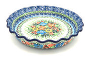 Ceramika Artystyczna Polish Pottery Baker - Pie Dish - Fluted - Unikat Signature U3347 636-U3347 (Ceramika Artystyczna)