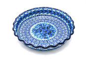 Ceramika Artystyczna Polish Pottery Baker - Pie Dish - Fluted - Unikat Signature U3639 636-U3639 (Ceramika Artystyczna)