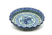 Ceramika Artystyczna Polish Pottery Baker - Pie Dish - Fluted - Unikat Signature U4520 636-U4520 (Ceramika Artystyczna)