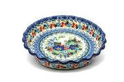 Ceramika Artystyczna Polish Pottery Baker - Pie Dish - Fluted - Unikat Signature U4695 636-U4695 (Ceramika Artystyczna)