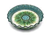 Ceramika Artystyczna Polish Pottery Baker - Pie Dish - Fluted - Unikat Signature U803 636-U0803 (Ceramika Artystyczna)