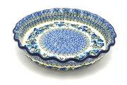 Ceramika Artystyczna Polish Pottery Baker - Pie Dish - Fluted - Winter Viola 636-2273a (Ceramika Artystyczna)