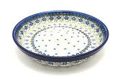 Ceramika Artystyczna Polish Pottery Baker - Pie Dish - Silver Lace 230-2158a (Ceramika Artystyczna)