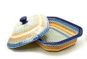 Ceramika Artystyczna Polish Pottery Baker - Rectangular Covered - Large - Autumn 665-050a (Ceramika Artystyczna)