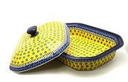 Ceramika Artystyczna Polish Pottery Baker - Rectangular Covered - Large - Sunburst 665-859a (Ceramika Artystyczna)