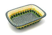 Ceramika Artystyczna Polish Pottery Baker - Rectangular with Grip Lip - Daffodil 162-2122q (Ceramika Artystyczna)