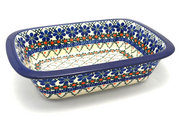 Ceramika Artystyczna Polish Pottery Baker - Rectangular with Grip Lip - Primrose 162-854a (Ceramika Artystyczna)