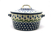 Ceramika Artystyczna Polish Pottery Baker - Round Covered Casserole - Bleeding Heart 278-377o (Ceramika Artystyczna)