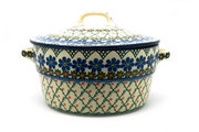Ceramika Artystyczna Polish Pottery Baker - Round Covered Casserole - Primrose 278-854a (Ceramika Artystyczna)