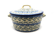 Ceramika Artystyczna Polish Pottery Baker - Round Covered Casserole - Terrace Vines 278-1822a (Ceramika Artystyczna)