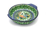 Ceramika Artystyczna Polish Pottery Baker - Round with Grips - Large - Unikat Signature U3271 417-U3271 (Ceramika Artystyczna)
