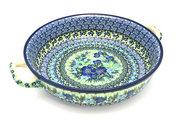 Ceramika Artystyczna Polish Pottery Baker - Round with Handles - Large - Unikat Signature U4629 420-U4629 (Ceramika Artystyczna)