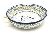 Ceramika Artystyczna Polish Pottery Baker - Round with Handles - Large - Unikat Signature U4830 420-U4830 (Ceramika Artystyczna)