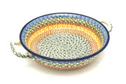 Ceramika Artystyczna Polish Pottery Baker - Round with Handles - Medium - Autumn 419-050a (Ceramika Artystyczna)
