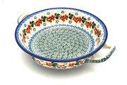 Ceramika Artystyczna Polish Pottery Baker - Round with Handles - Medium - Cherry Blossom 419-2103a (Ceramika Artystyczna)
