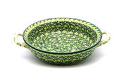 Ceramika Artystyczna Polish Pottery Baker - Round with Handles - Medium - Irish Meadow 419-1888q (Ceramika Artystyczna)