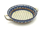 Ceramika Artystyczna Polish Pottery Baker - Round with Handles - Medium - Primrose 419-854a (Ceramika Artystyczna)